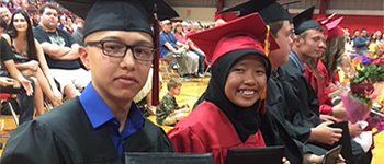 PAX exchange student Ayundya attends his American high school graduation