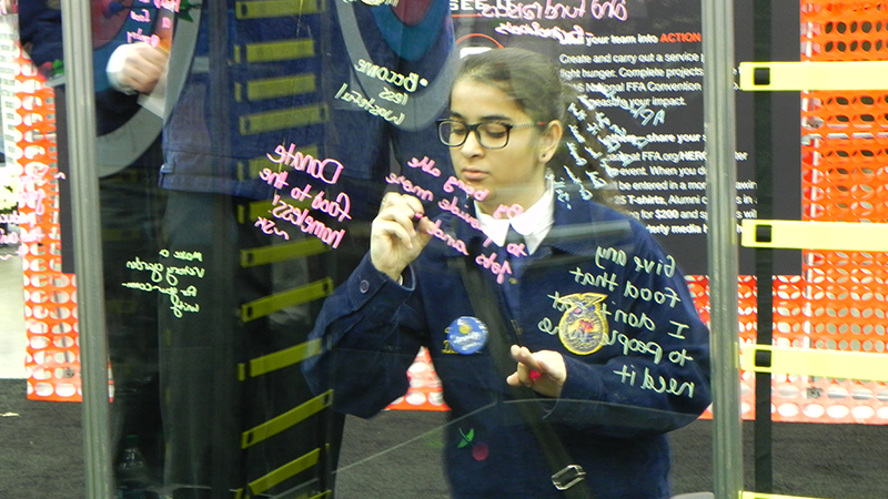 Pakistani Student at FFA National Convention