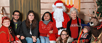 Group of PAX exchange students at Scandinavian Christmas Festival