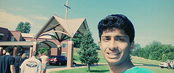 Minnesota high school exchange student from Pakistan visiting a church for the first time