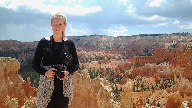 Danish exchange student at Bryce Canyon National Park in Utah.