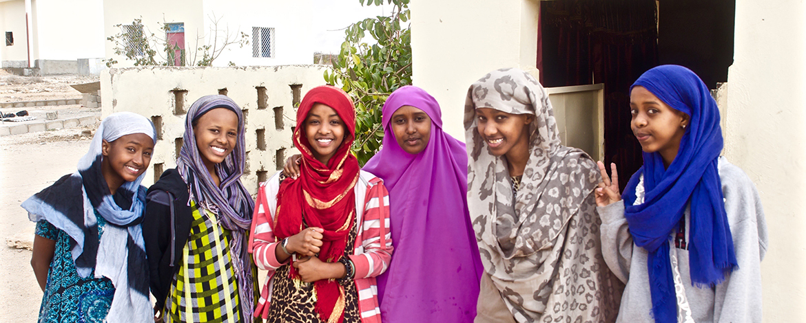 Female students at the Abaarso School of Science and Technology in Somaliland
