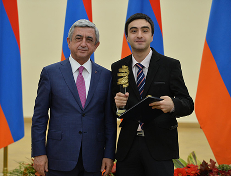 Former PAX exchange student is presented with Presidential Education Award in Armenia