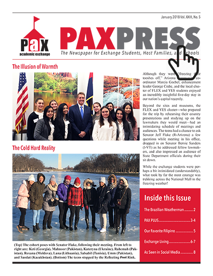 PAX Press January Cover