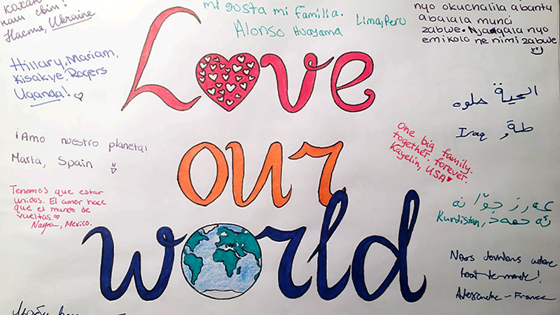 Poster created by PAX exchange students to raise awareness about the importance of cultural exchange and understanding