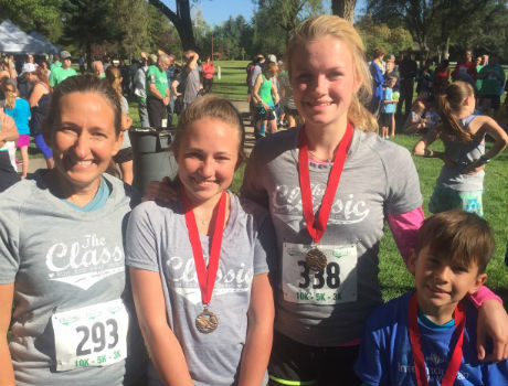Exchange Student Runs 5k with Family