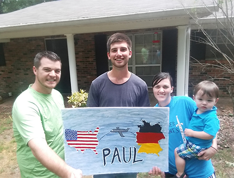 Joel, Reianna, and Micah Barron welcome Paul into their family